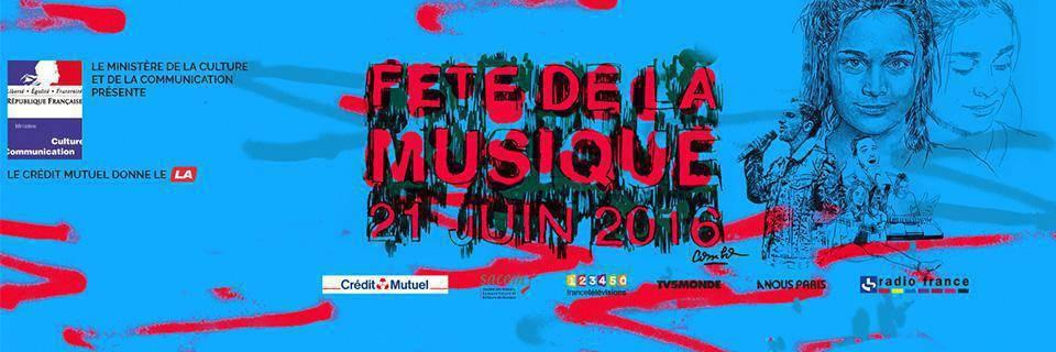 The poster for the 2016 Fete de la Musique