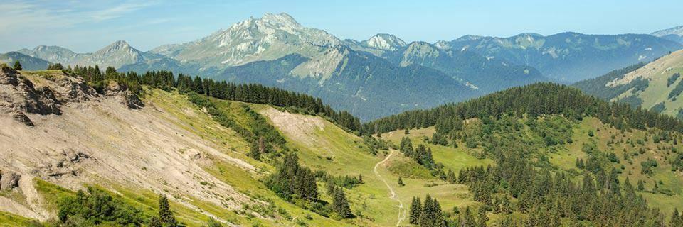 Pralognan mountains in the summer