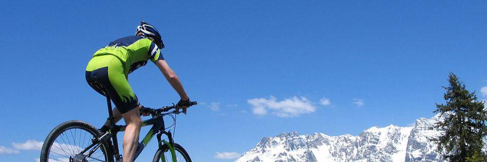 Man cycling in Alpe d'Huez