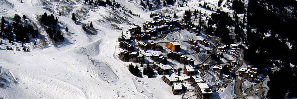 The pistes of Mottaret